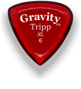Tripp XL 6.0mm Red Acrylic Guitar Pick Handmade Custom Best Acoustic Mandolin Electric Ukulele Bass Plectrum Bright Loud Faster Speed