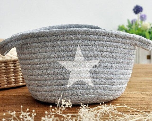 Handknit Flower Basket - Simply Hygge