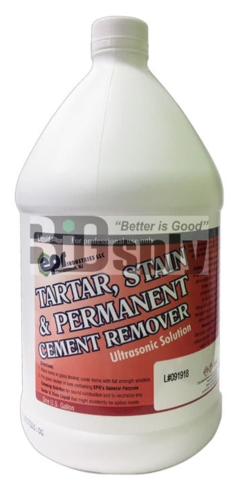Tartar, Stain & Permanent Cement Remover Solution