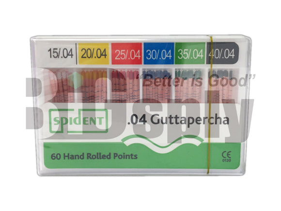 Gutta Percha Points 04 Tapered sizes 60/Pk