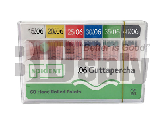 Gutta Percha Points 06 Tapered sizes 60/Pk