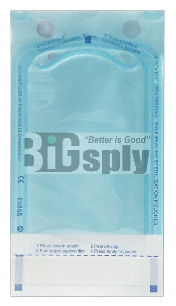 Self seal Sterilization Pouches-Blooming 200/bx