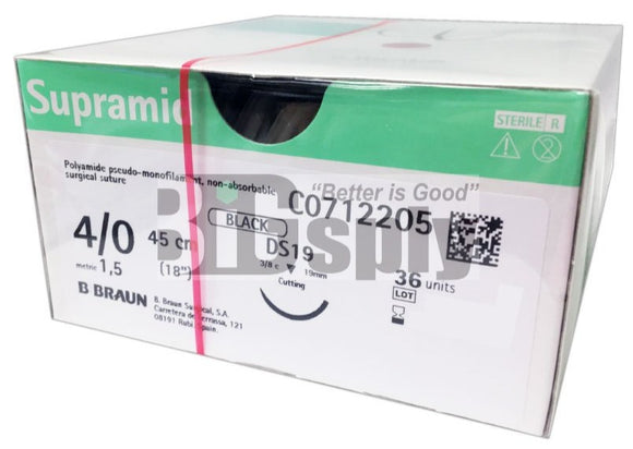 Sutures-Non-absorbable Supramid 4/0 36/bx