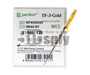 Niti Reciprocating System- T3 Gold Files 21mm 3/pk