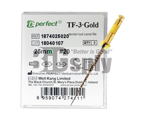 Niti Reciprocating System- T3 Gold Files 25mm 3/pk