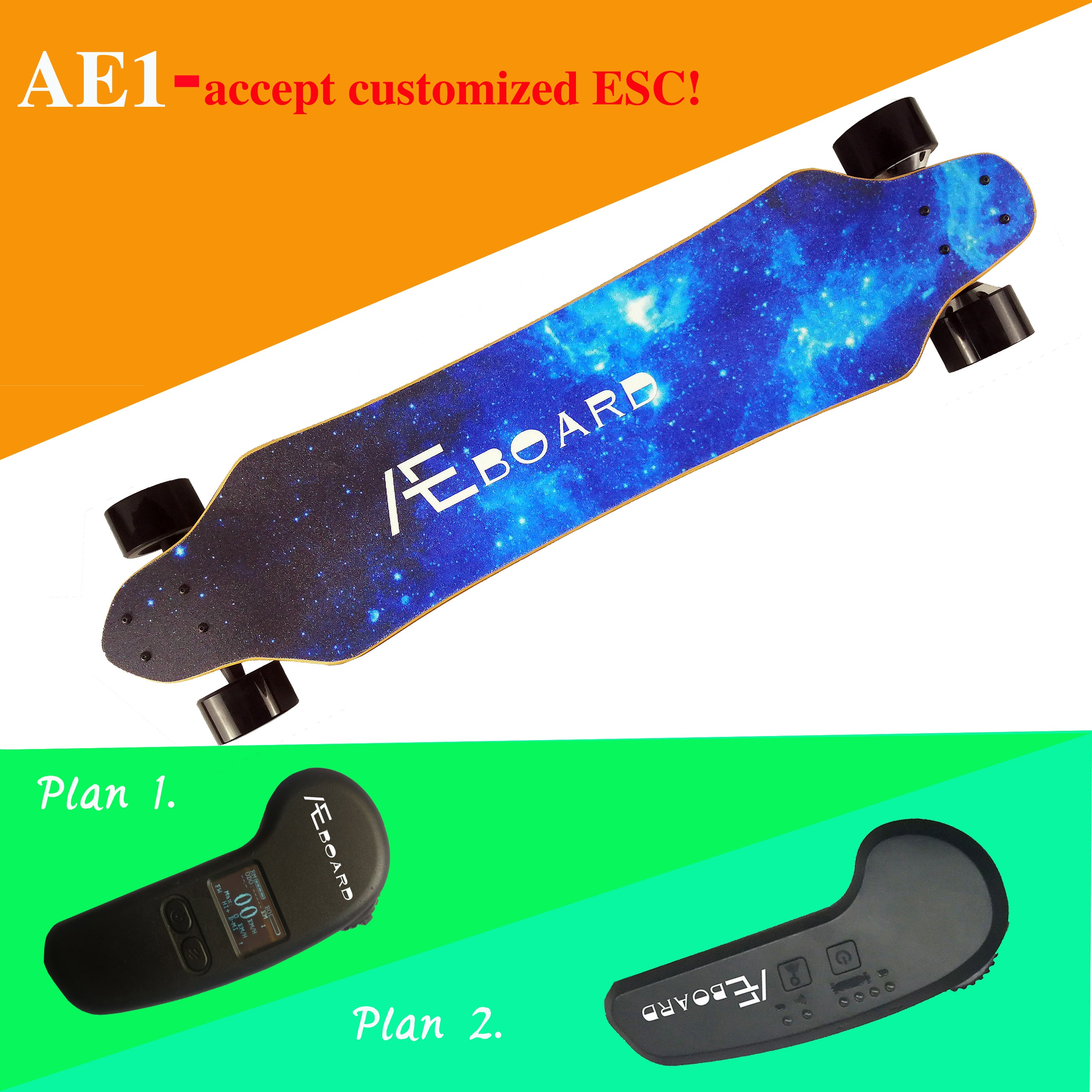With  Extra Two Urethane   AEBOARD AE1 ELECTRIC SKATEBOARD(10S3P battery).