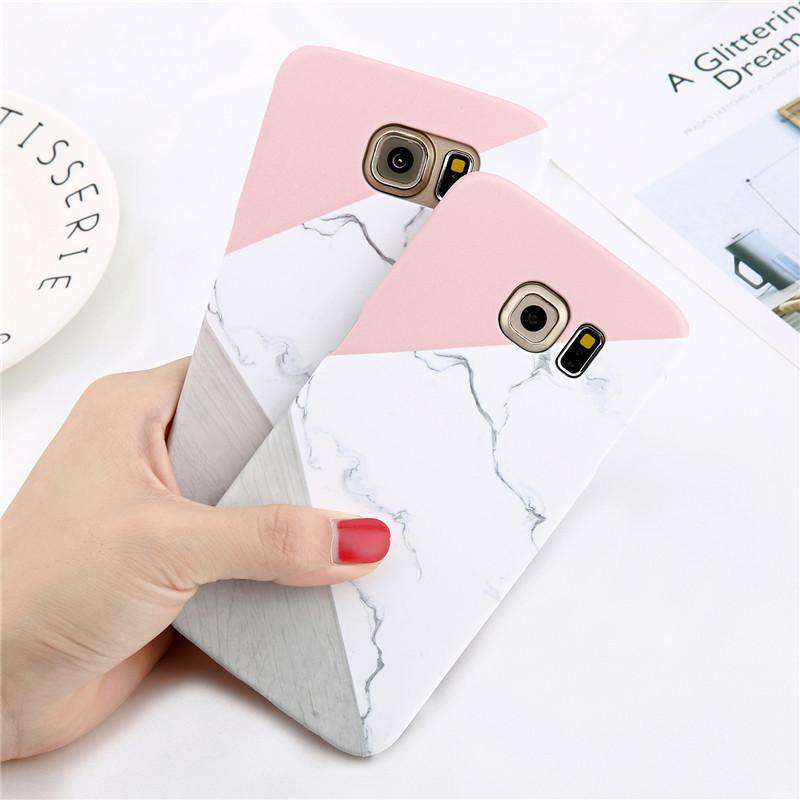 Geometric Splice Marble Phone Case - Samsung - Bool