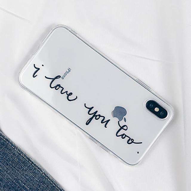 Letter Print Phone Case - iPhone - Bool