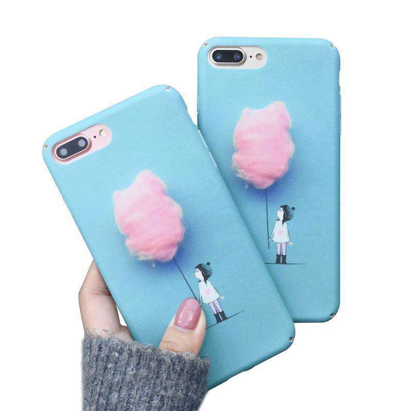 Cotton Candy Girl Hard Phone Case - iPhone - Bool