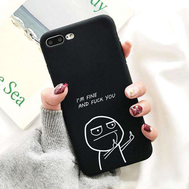 Funny Cartoon 'Fuck You' Phone Case - iPhone - Bool