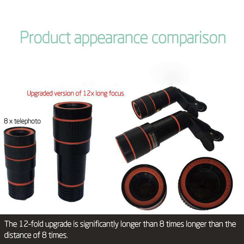 12x Optical Zoom Mobile Phone Telescope Lens HD - Bool