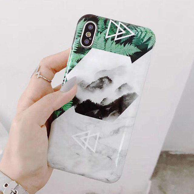 Marble Leaf Phone Case - iPhone - Bool