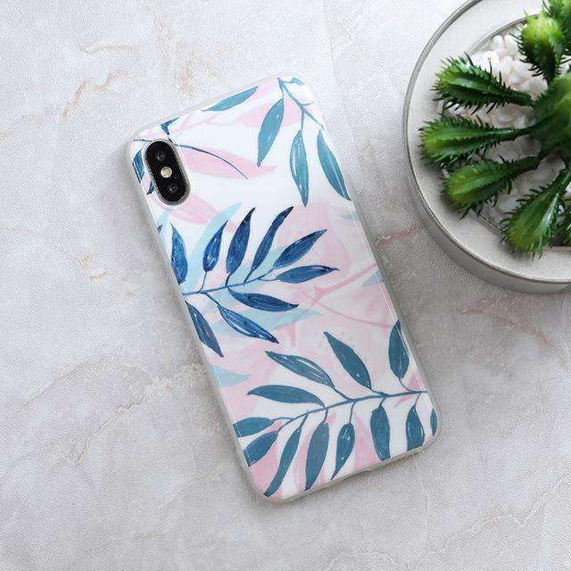 Marble Textured Phone Case For iPhone