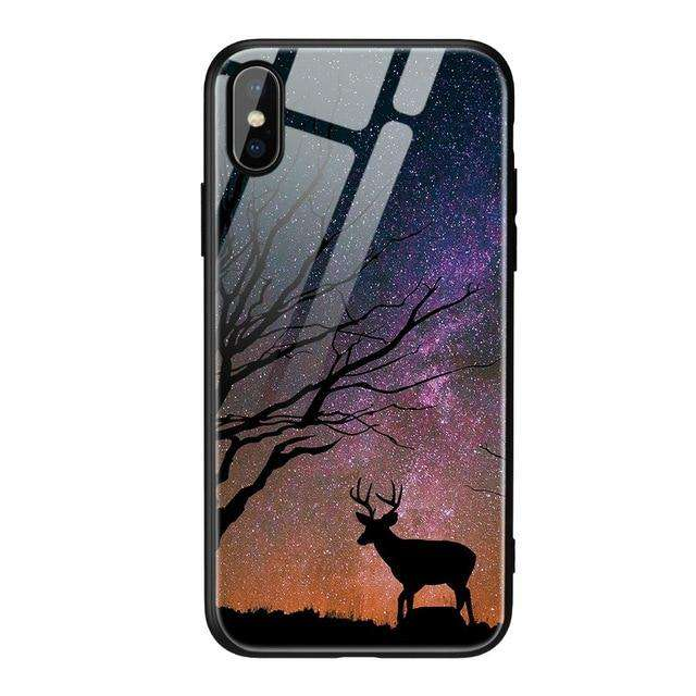 Tempered Glass Deer Phone Case - iPhone - Bool