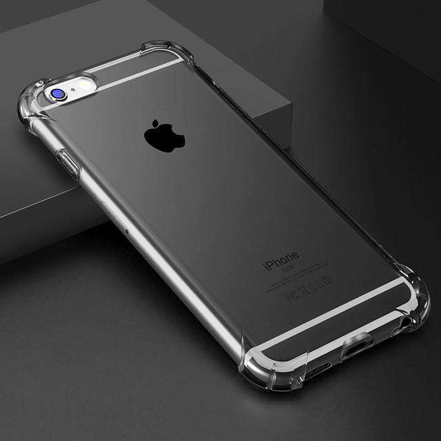 Shockproof Clear Phone Case - iPhone