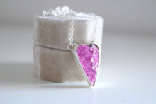 Cobaltocalcite Heart. Sterling silver pendant with Cobaltocalcite heart.