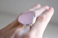 Pink Quartz ring. Sterling silver Pink Quartz ring.