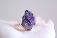 Amethyst ring. Sterling silver ring with druzy Amethyst.