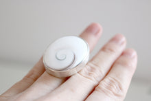 Operculum Ring. Sterling silver ring with natural Operculum.