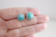 Amazonite earrings. Sterling silver Amazonite earrings.