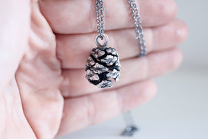 Pine cone necklace. Sterling silver Sequoia Pine cone necklace.