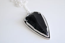 Obsidian Arrowhead necklace. Sterling silver necklace with Obsidian arrowhead.