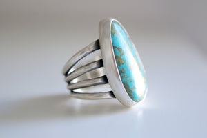 Turquoise ring. Sterling silver ring with natural blue Turquoise.