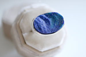 RESERVED . Lapis Lazuli ring. Sterling silver ring with natural Lapis Lazuli.