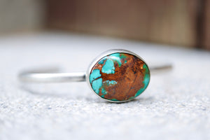 Turquoise bracelet. Sterling silver cuff with natural Turquoise.