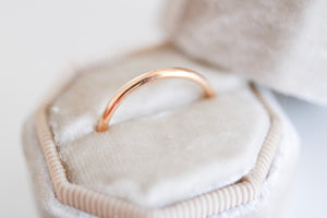 Gold Wedding Band. 18kt Yellow Gold ring. 2mm.
