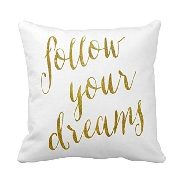 Follow Dreams Quote Cushion Cover