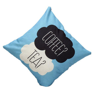 Coffee Tea Cushion Cover