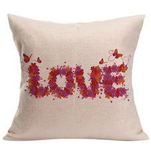 Load image into Gallery viewer, LOVE Letter Square Pillow Cover Cushion Case Pillowcase Zipper Closure