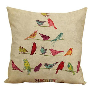 Christmas Birds Cushion Cover