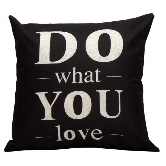 Do Love Quote Cushion Cover