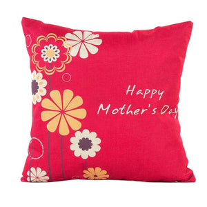 Mother's Day Flower Cushion Cover