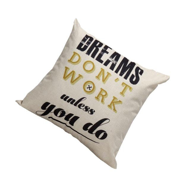Dreams Quote Cushion Cover