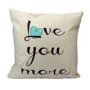 Love You More Cushion Cover