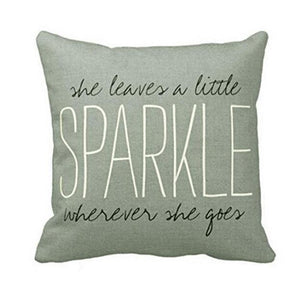 Sparkle Quote Cushion Cover