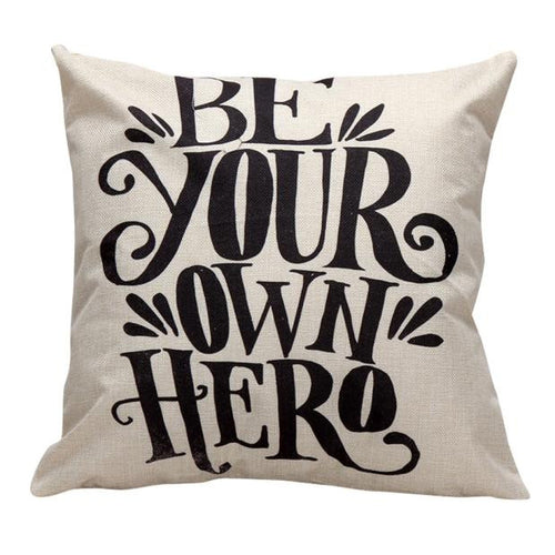 Hero Quote Cushion Cover