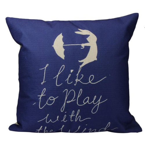 Wind Quote Cushion Cover