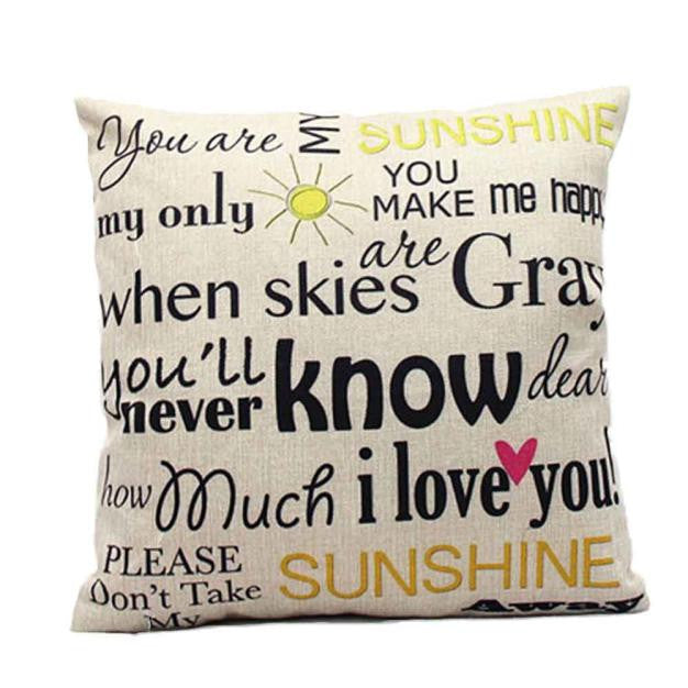 Sweet Quote Cushion Cover