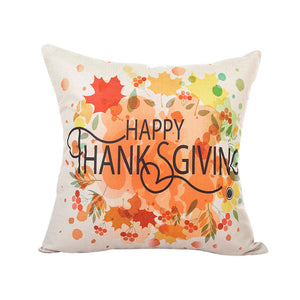 Maple Thanksgiving Cushion Cover
