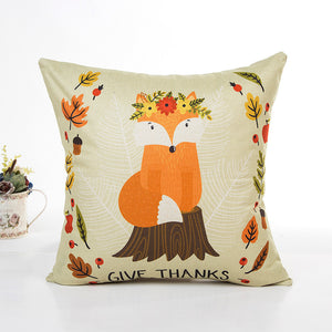 Thanksgiving Day Cushion Cover