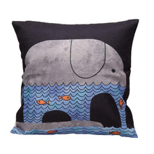 Load image into Gallery viewer, Elephant Life Cushion Cover