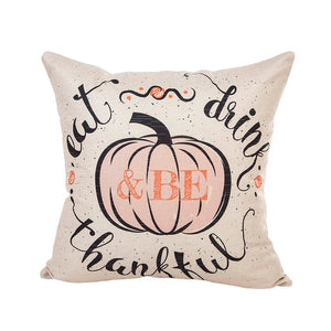 Grateful Pumpkin Cushion Cover