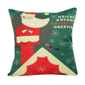 Christmas Green Cushion Cover