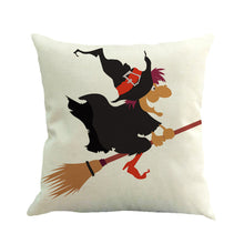 Load image into Gallery viewer, Flying Halloween Cushion Cover