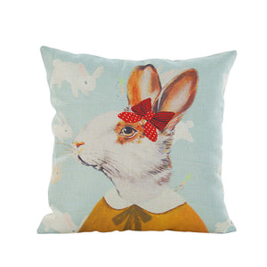 Valentine's Day Rabbit Cushion Cover