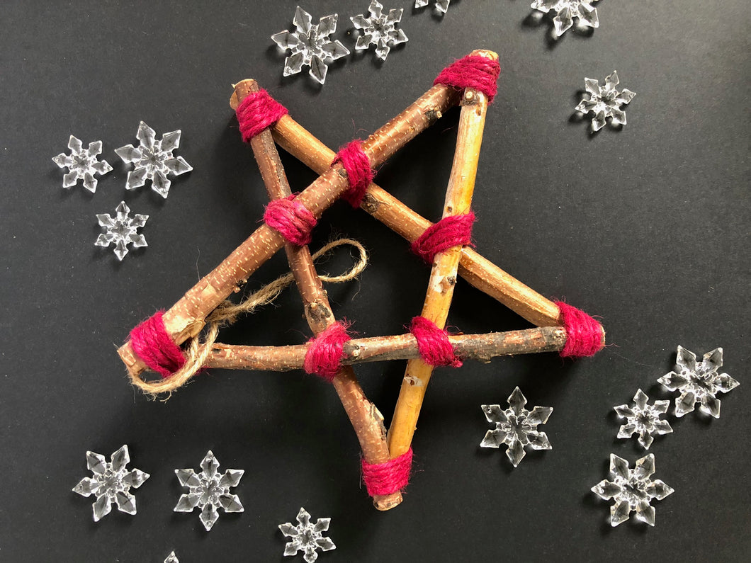 Twig Wooden Star